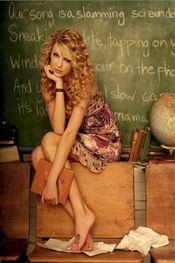 Taylor Swift - School Girl Song Poster (60,96 X 91,44 Cm)
