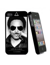 Coque Rigide Noir Eleven Paris Motif Lenny Kravitz _ Iphone 4/4s Pour Le Apple Iphone 4s