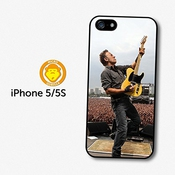 Bruce Springsteen Concert Live Yellow Guitar Coque Pour Iphone 5 5s A5717