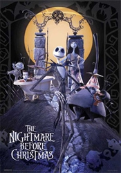 Empire 149 626 Nightmare Before Christmas - Tim Burton - 3d Lenticulaire Affiche - Taille 47 X 67 Cm