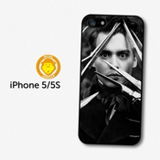 Johnny Depp Black & White Scissor Hands Coque Pour Iphone 5 5s A1322