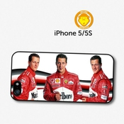 Michael Schumacher Funny Faces F1 Formula One Coque Pour Iphone 5 5s A146
