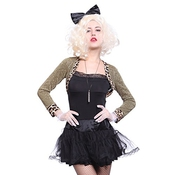 Déguisement Costume Tenue Robe Madonna Davina Wild Child Enfant Sauvage Pop Star Annee 80 1980 80s M L Femme Adult Halloween Material Girl