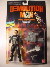 Sylvester Stallone As Combat Cannon Spartan - Demolition Man: The Movie By Mattel, Inc. (english Manual)