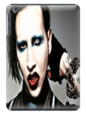 Custom Unique Cool Marilyn Manson Fashionable Tpu Cellphone Protector Shield Case For Ipad Mini