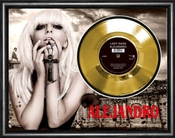 Lady Gaga Alejandro Framed Disque D'or Gold Display