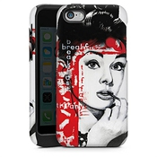 Apple Iphone 5c Case Coque Housse Tough Case White/black - Audrey Hepburn