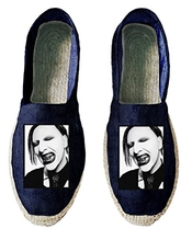 Marilyn Manson Alternative Heavy Metal Retro Womens Espadrilles 37 Eu 4 Uk 5 Us