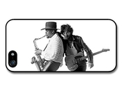 Bruce Springsteen And Clarence Clemons Saxophone Black And White Coque Pour Iphone 5 5s