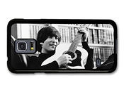 John Lennon Black And White Portrait Playing Acoustic Guitar Coque Pour Samsung Galaxy S5 Mini