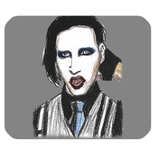 Marilyn Manson Custom Rectangle Non-slip Rubber Mousepad Gaming Mouse Pad
