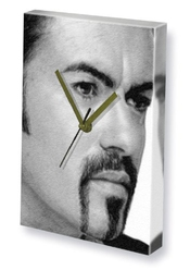 George Michael - Canvas Clock (a5 - Signed By The Artist) #js001