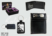 Johnny Hallyday - Portefeuille + Porte Clefs Cuir