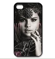 Selena Gomez Actress Charming Customize Unique Rubber Silicone Iphone 4s Case Back Cover For Iphone 4s 4g -black