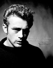 Plaque Métal James Dean - Live Forever