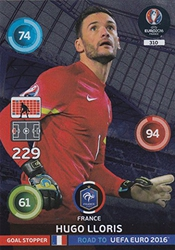 Panini Adrenalyn Xl Road To Uefa Euro 2016 Hugo Lloris-bouchon Objectif De Carte