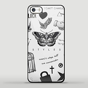 Creative One Direction Harry Styles Tattoo For Iphone And Samsung Case (iphone 5c Black)