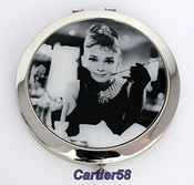 Audrey Hepburn Handbag Lady Compact Mirror With Gift Box And Pouch By Lucor