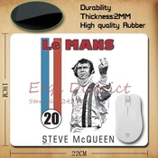 Lemans Steve Mcqueen Computer Gaming Mouse Pad Gamer Play Mats
