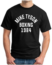 Om3 - Mike Tyson 1984 Black - T-shirt Boxing Heavyweight Champion Ko, S - 5xl