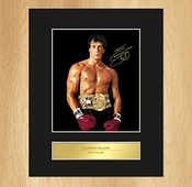 Sylvester Stallone Poster Rocky Montage Photo Photo Signée
