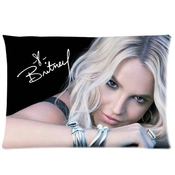 Custom Britney Spears Home Decorative Pillowcase Standard Size 16*24 Inches (one Side)