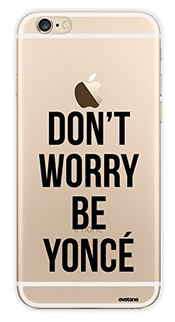 Coque Transparente Rigide Don't Worry Beyonce Pour Apple Iphone 6 Plus Et 6s Plus