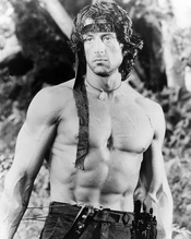 Sylvester Stallone De John J. Rambo In Rambo: First Blood Part Ii 36x28cm Photographie En Noir Et Blanc