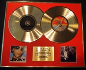 Lenny Kravitz/double Cd Disco De Oro & Foto Display/edicion Ltd/certificato Di Autenticità/lenny & Are You Go...