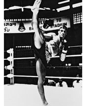 Jean-claude Van Damme As Kurt Sloane From Kickboxer #1 - Photo Cinématographique En Noir Et Blanc- Affiche - 60x50cm