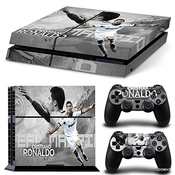 Ps4 Playstation 4 Console Decal Vinyl Autocollant Skin Sticker Cristiano Ronaldo + 2 Autocollant Manette Set