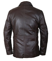 F&h Men's Fast & Furious 7 Jason Statham Genuine Leather Coat