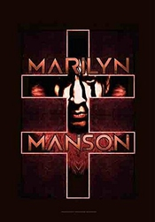 Marilyn Manson Drapeau Poster Drapeau Double Cross
