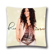 Amel Bent Square Pillowcase Cushion Cover Throw Pillow Case With Hidden Zipper Closure 18x18 By Generic