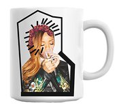 Zeus Rihanna Smoking With Roses Modern Collage Mug Cup