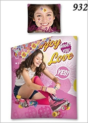 Soy Luna Enjoy What You Love Set Housse De Couette 140x200cm + Taie D'oreiller 100% Coton