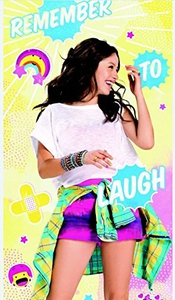 Serviette De Bain Drap De Plage Disney Soy Luna Remember To Laugh Rire En Microfibre 70 X 140 Cm