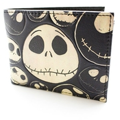 Tim Burton Nightmare Before Christmas Old Style Jack Noir Portefeuille