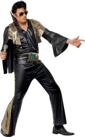 Smiffy's - 354161 - Elvis Black And Gold Costume