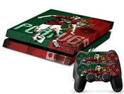 Richipy Stickers Cristiano Ronaldo Portugal Flag Background Ps4 Skin Vinyl Decal For Playstation 4 Sticker With 2 Controller Skins By Richipy Stickers