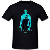 Wssfz Men's James Bond Daniel Craig Spectre 007 T-shirt Sizes S-3xl