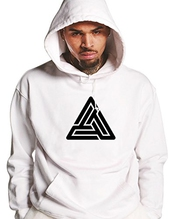 Black Pyramid Sweat à Capuche Blanc Chris Brown Merch