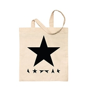 David Bowie - Blackstar - Natural Tote Shopping Bag By Illegal Art Boutique