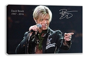 David Bowie Concert Signature Commemorative Canvas Wall (30x18) By Dynamo Printing Ltd