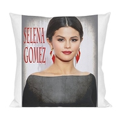 Selena Gomez Portrait Oreiller Pillow Cushion Extra Soft Polyester For Bed Home Furniture By Genuine Fan Merchandise