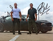 Limited Edition Paul Walker Vin Diesel Signed Photo + Cert Printed Autograph Signature Signed Signiert Autogram By Giftedbox