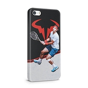 Tennis Rafael Nadal Focused Hard Plastic Snap On Phone Case Cover Shell For Iphone 5, Iphone 5s & Iphone Se