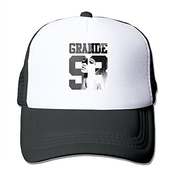 Feruch Jade Custom Adjustable Mesh Ariana Singer Grande Cute Cartoon Poster 433 Sports Visor Cap Black Black