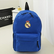 2015 new Real Madrid Cristiano Ronaldo Oxford Toile Sac à Dos Cartable épaules Sac Bleu Bleu