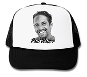 Paul Walker Actor Portrait Fast And Furious Graphic Design Trucker Cap